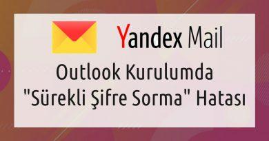 Yandex Sürekli Şifre Sorma